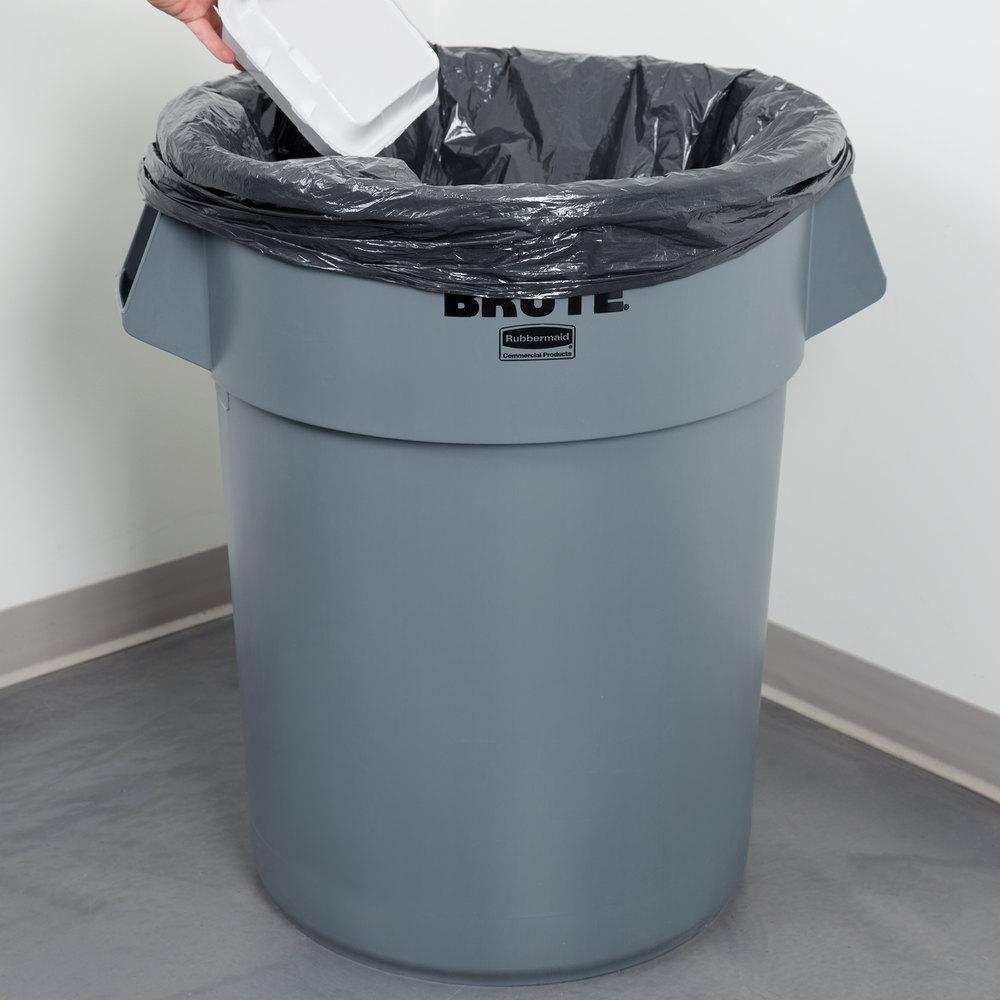 Rubbermaid BRUTE FG265500GRAY Gray 55 Gallon Trash Can