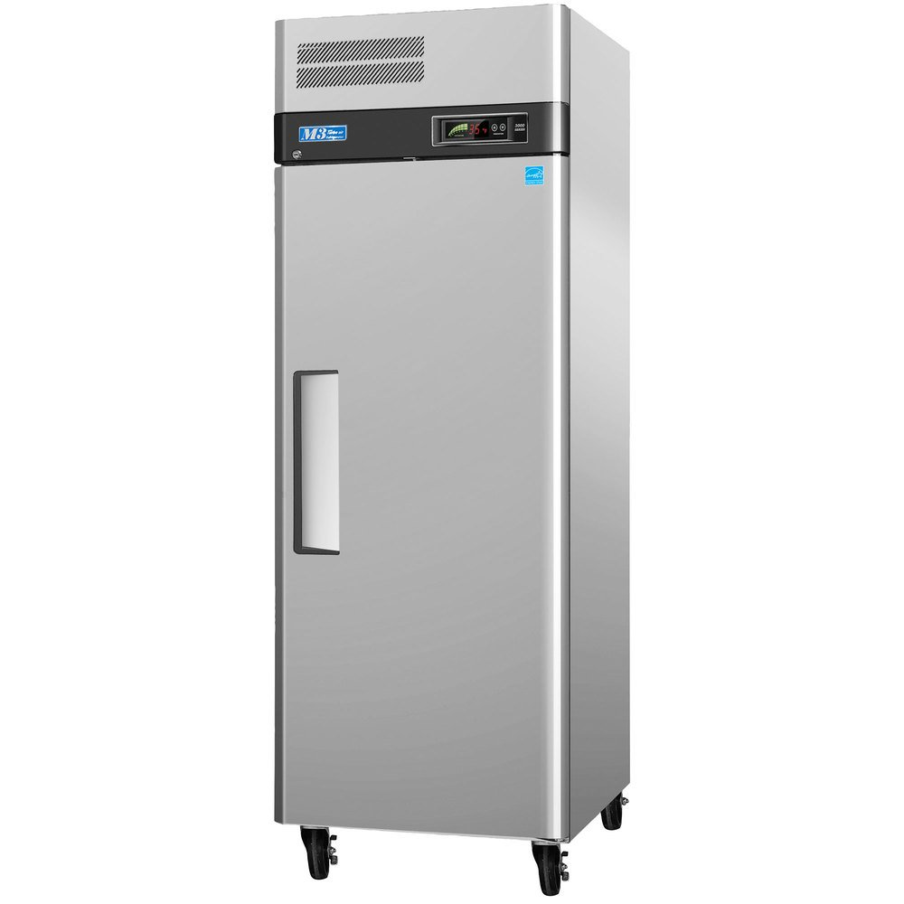 "Turbo Air M3F19-1 25"" M3 Series One Section Solid Door Reach in Freezer - 20 cu. ft."