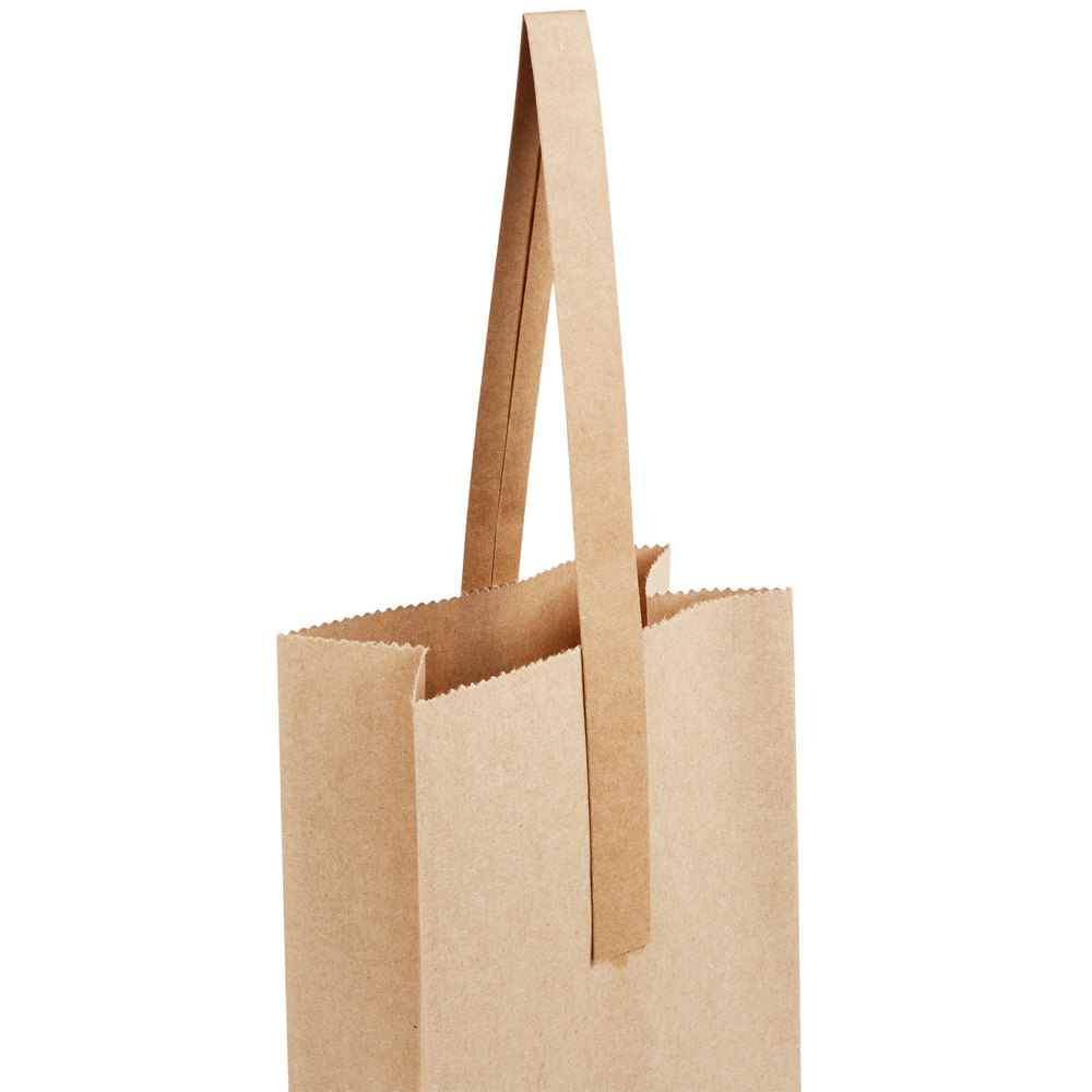 Paper Wine Bags With Handles: 1 Bottle Paper Wine Bag With Handle