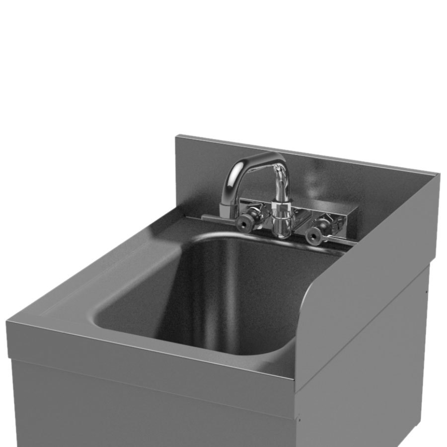 Advance tabco su 20r prestige series 20 deep underbar for Splash guard kitchen sink