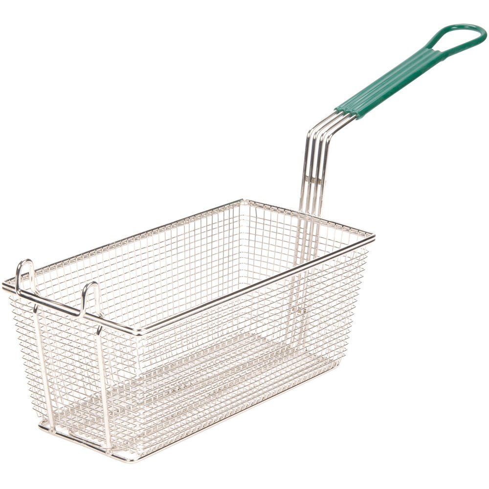 "13"" x 6 1/2"" x 5 1/4"" Fryer Basket with Front Hook"