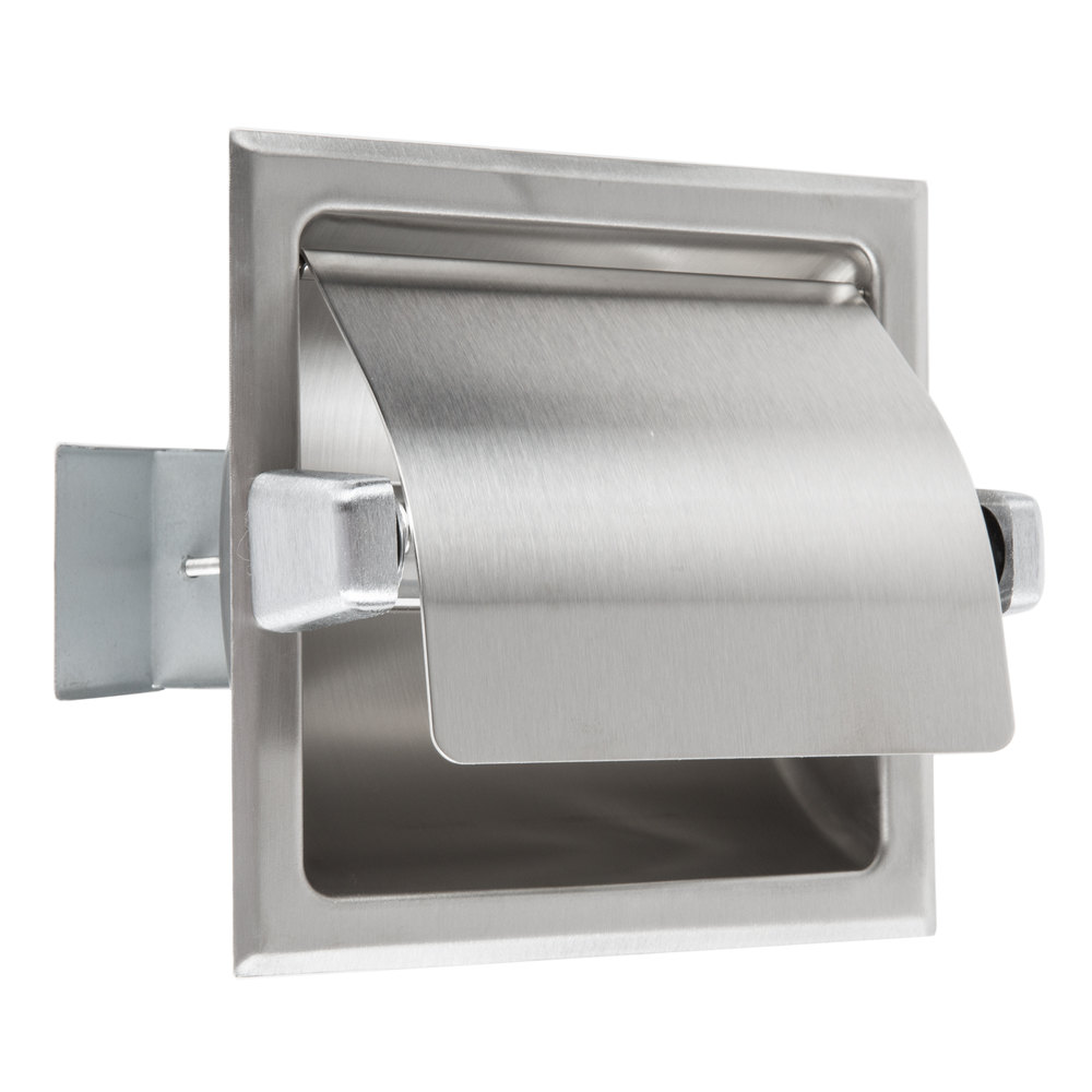 Bobrick B6697 Recessed Toilet Tissue Dispenser with Stainless