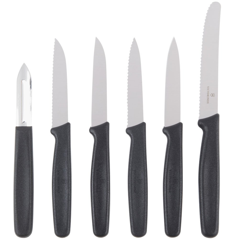 Victorinox 46652 6-Piece Polypropylene Handle Paring Knife Set with ...