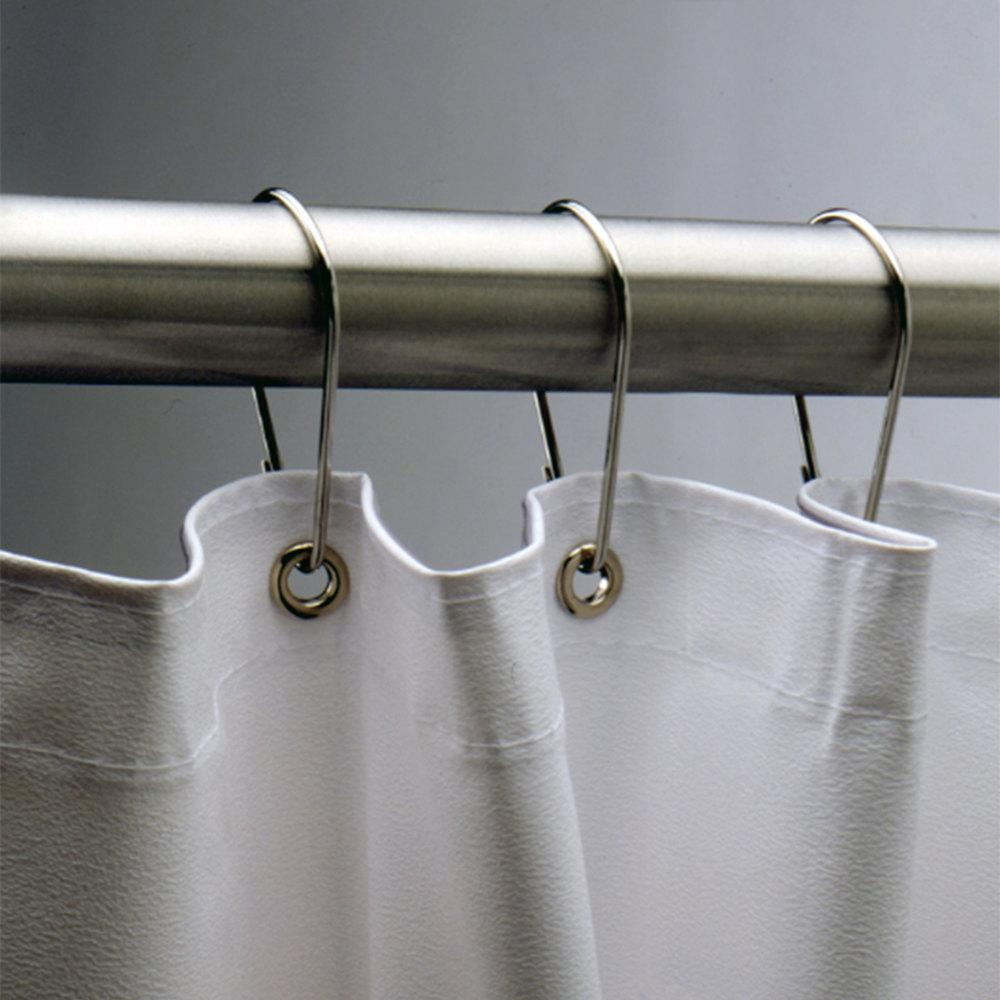 bobrick 204 1 stainless steel shower curtain hook. Black Bedroom Furniture Sets. Home Design Ideas