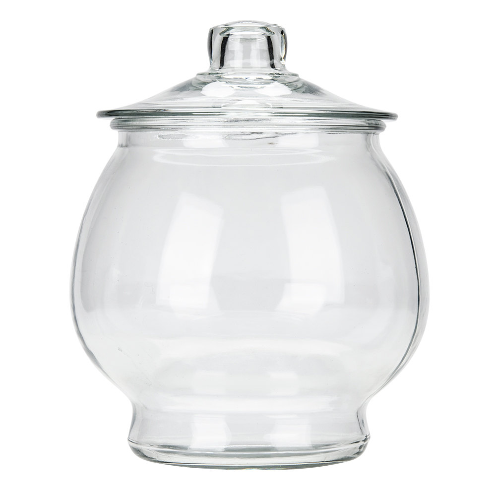 Our Glass Canisters with Glass Lids are our best selling options in large capacity glass food storage. They're great for flour, sugar, coffee, tea or rice. The unsurpassed visibility makes it easy to quickly identify the contents - especially advantageous when these are used as cookie jars!