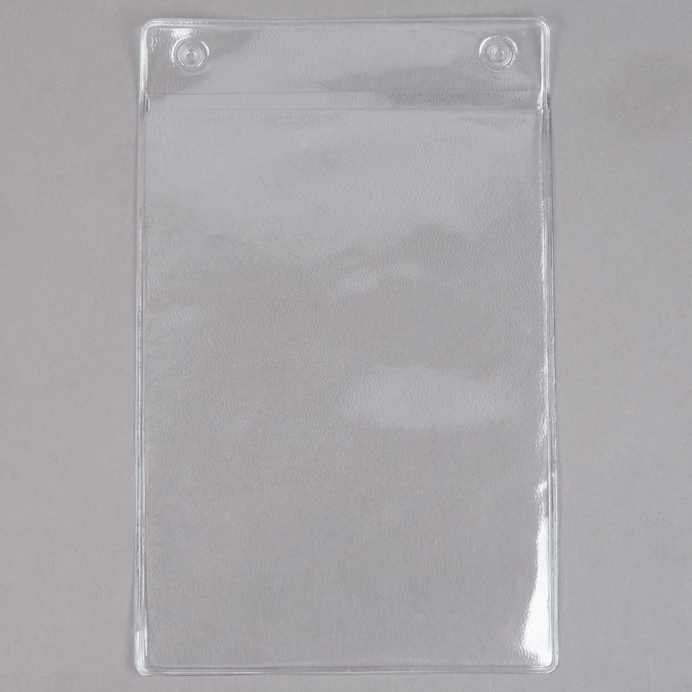 Menu Solutions TOPAPP Clear 2-Hole Page Protectors for Top Ring Menu Tents - 25/Pack