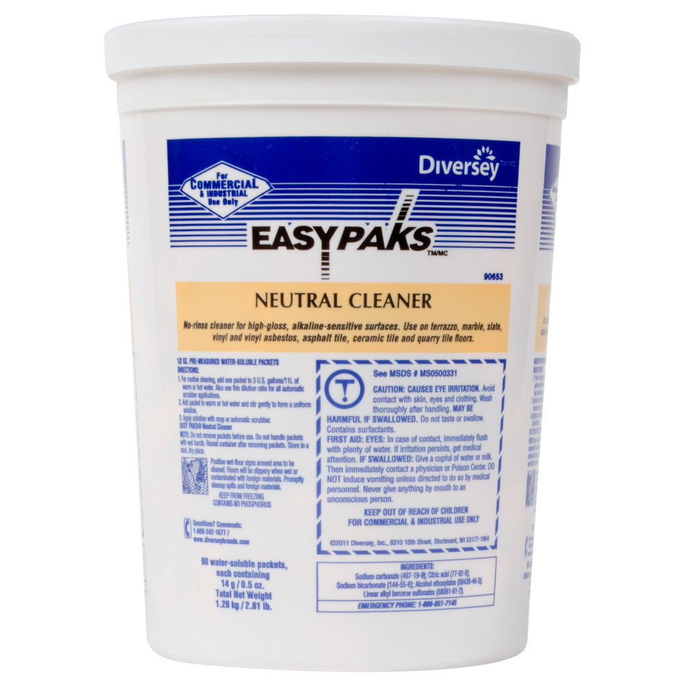 Diversey 990653 easy paks 05 oz neutral floor cleaner packets main picture dailygadgetfo Images