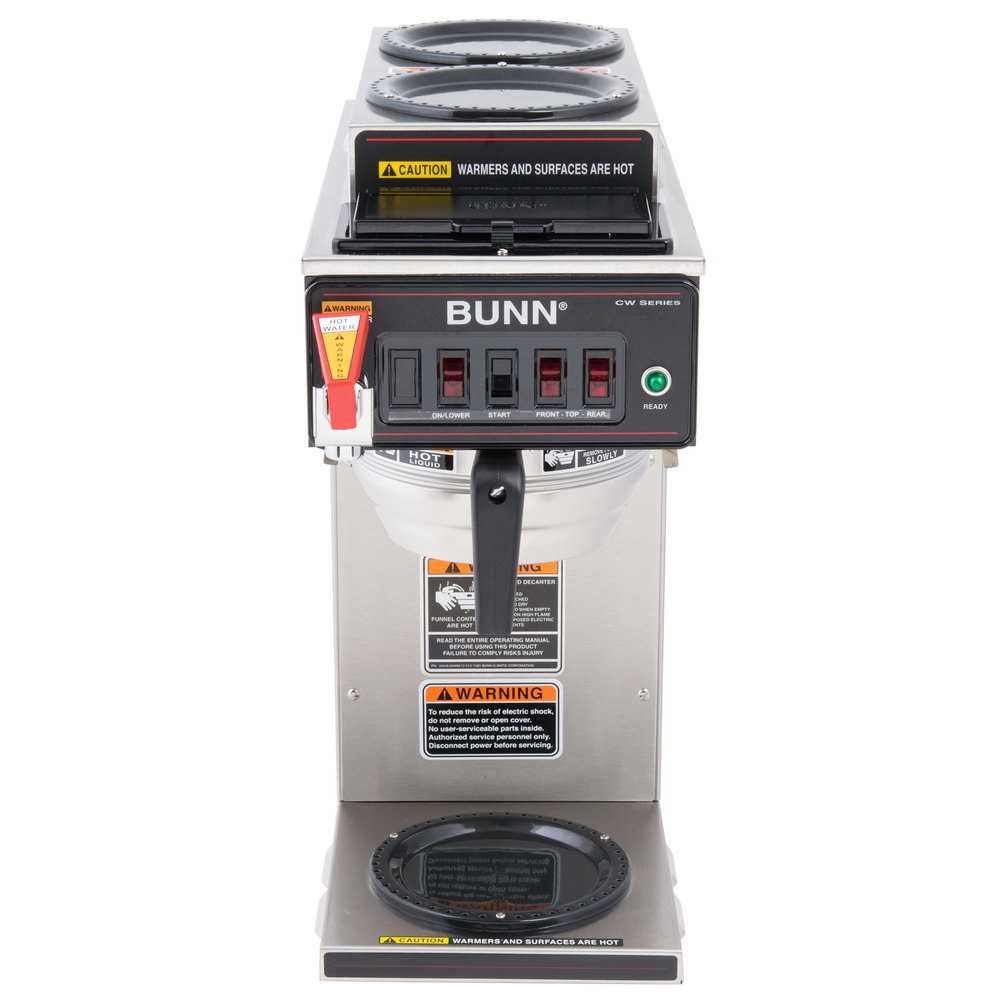 Bunn 12950.0410 CWTF-DV Automatic 12 Cup Coffee Brewer with 2 Upper Warmers, 1 Lower Warmer, and ...