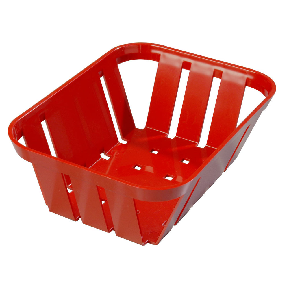 "Carlisle 4403005 Stackable Red Munchie Basket 7 3/8"" x 5 3/8"" 24 / Case"