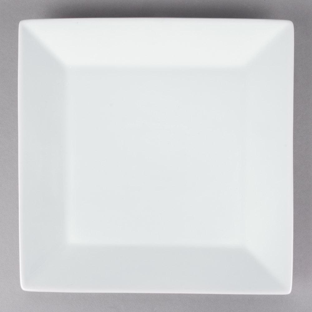 Core 10 Quot Bright White Square Porcelain Plate 12 Case