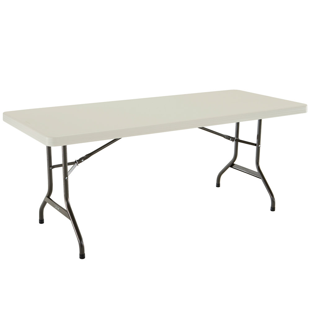 Lifetime folding table 30 x 72 plastic almond 2900 - Leroy merlin table pliante ...