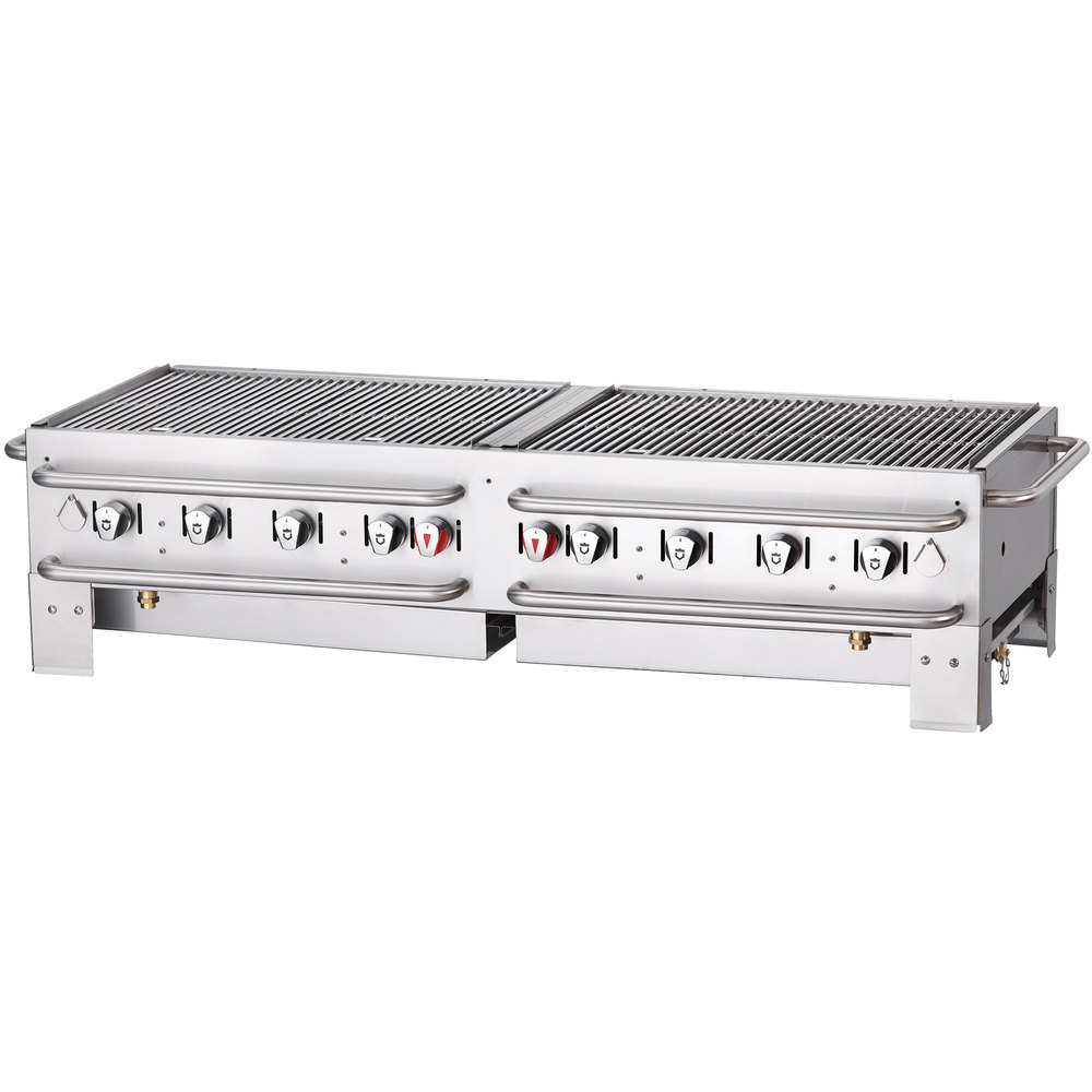 "Crown Verity PCB-60-SI 60"" Stackable Portable Grill with Single Inlet"