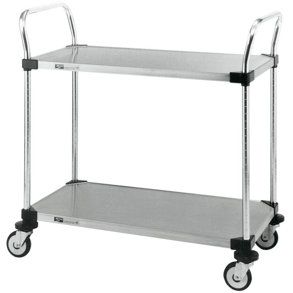 metro mw103 super erecta 18 x 24 x 38 two shelf standard duty stainless steel utility cart. Black Bedroom Furniture Sets. Home Design Ideas