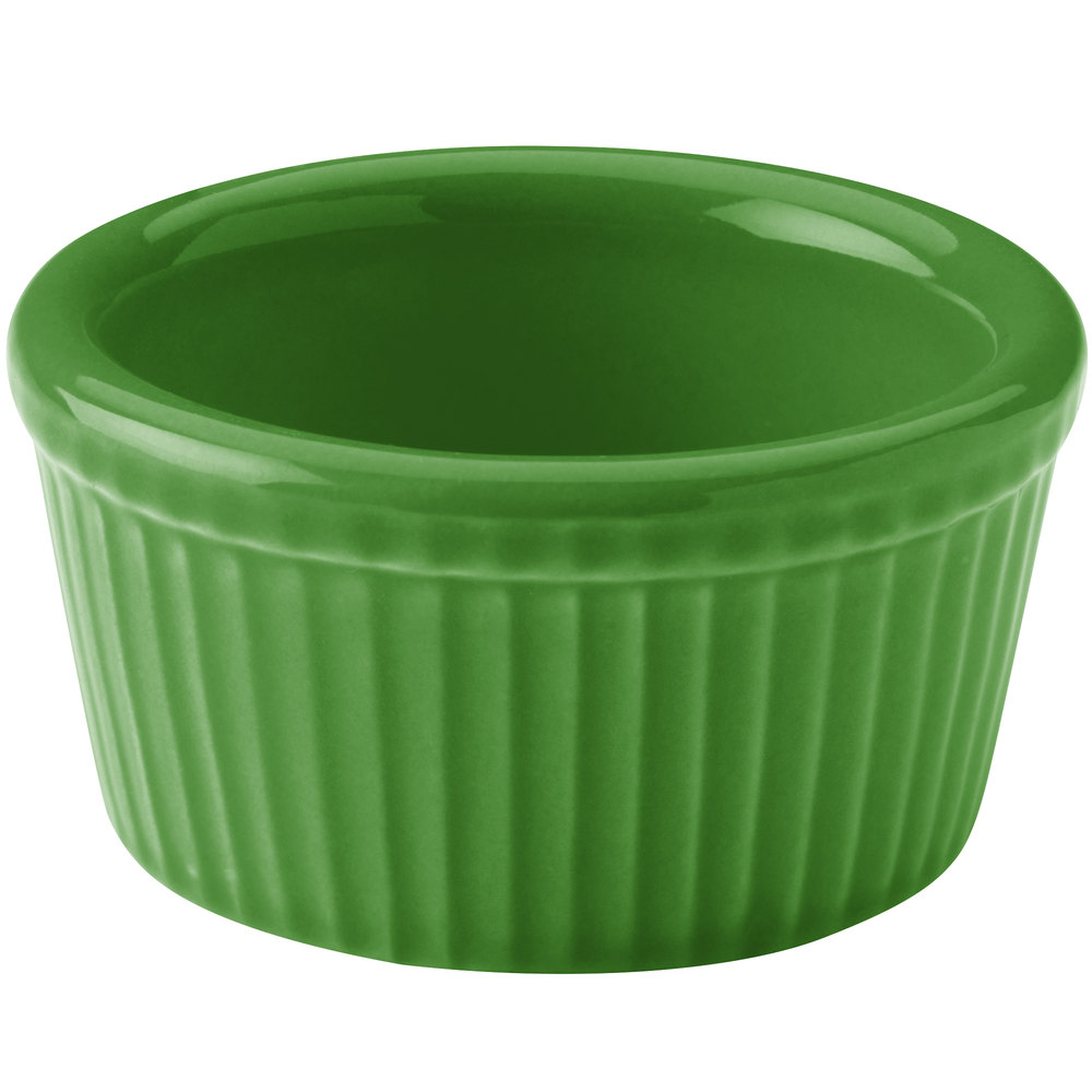 Hall China 30834324 Shamrock 2.75 oz. Colorations Fluted Ramekin - 36 / Case