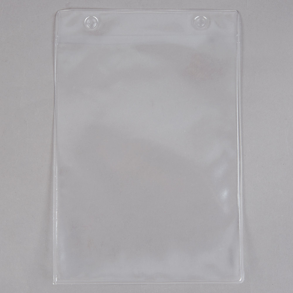 Menu Solutions TOPBPP Clear 2-Hole Page Protectors for Top Ring Menu Tents - 25/Pack