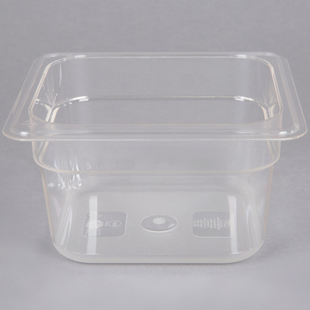 1 6 Size Clear Polycarbonate Food Pan 4 Quot Deep