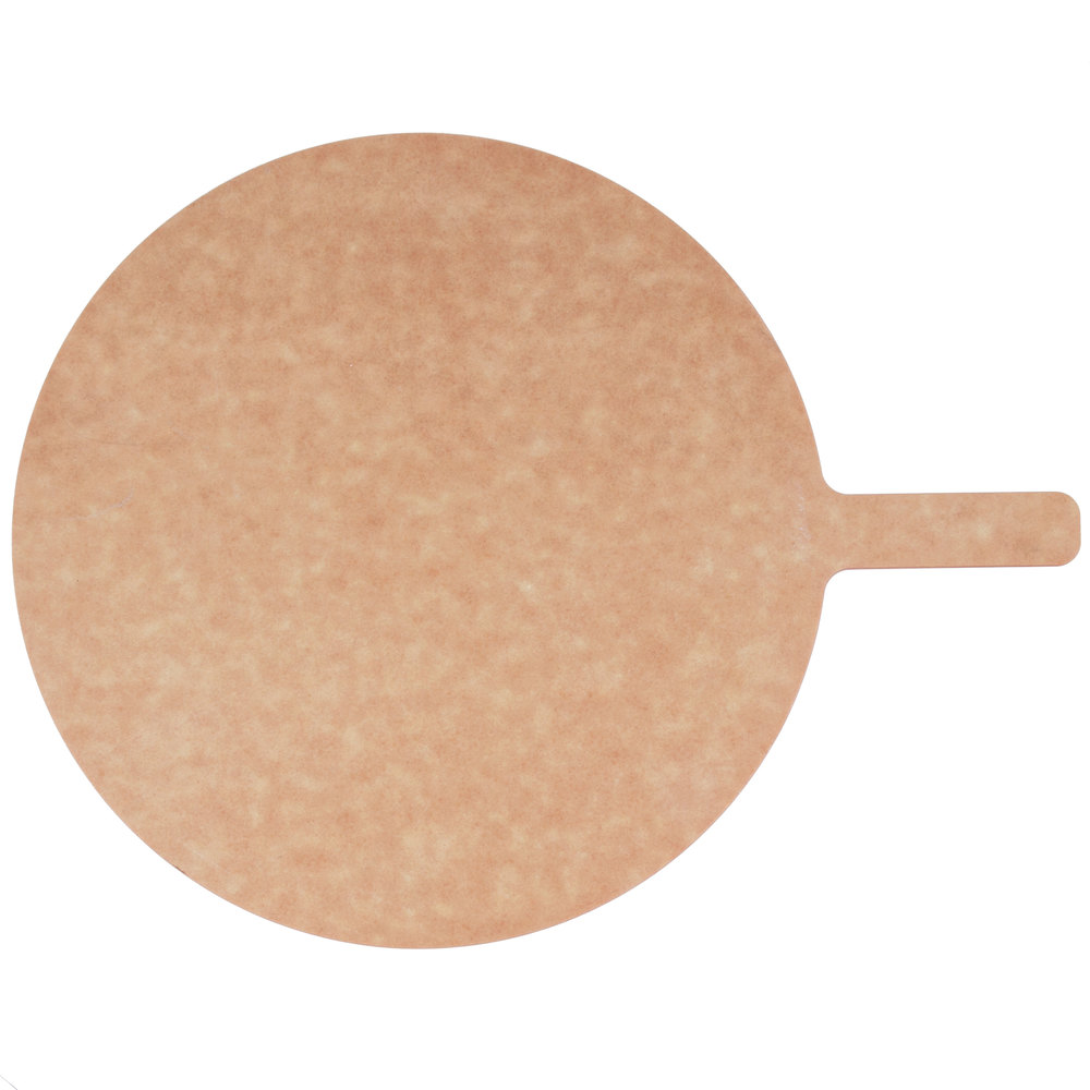 "American Metalcraft MP1217 12"" Round Pressed Pizza Peel with 5"" Handle"