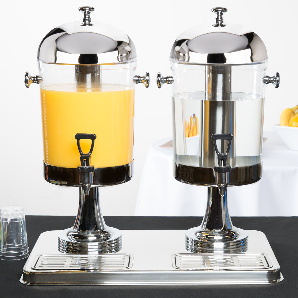 Tablecraft 72 Dual Cold Beverage Juice Dispenser 4 2