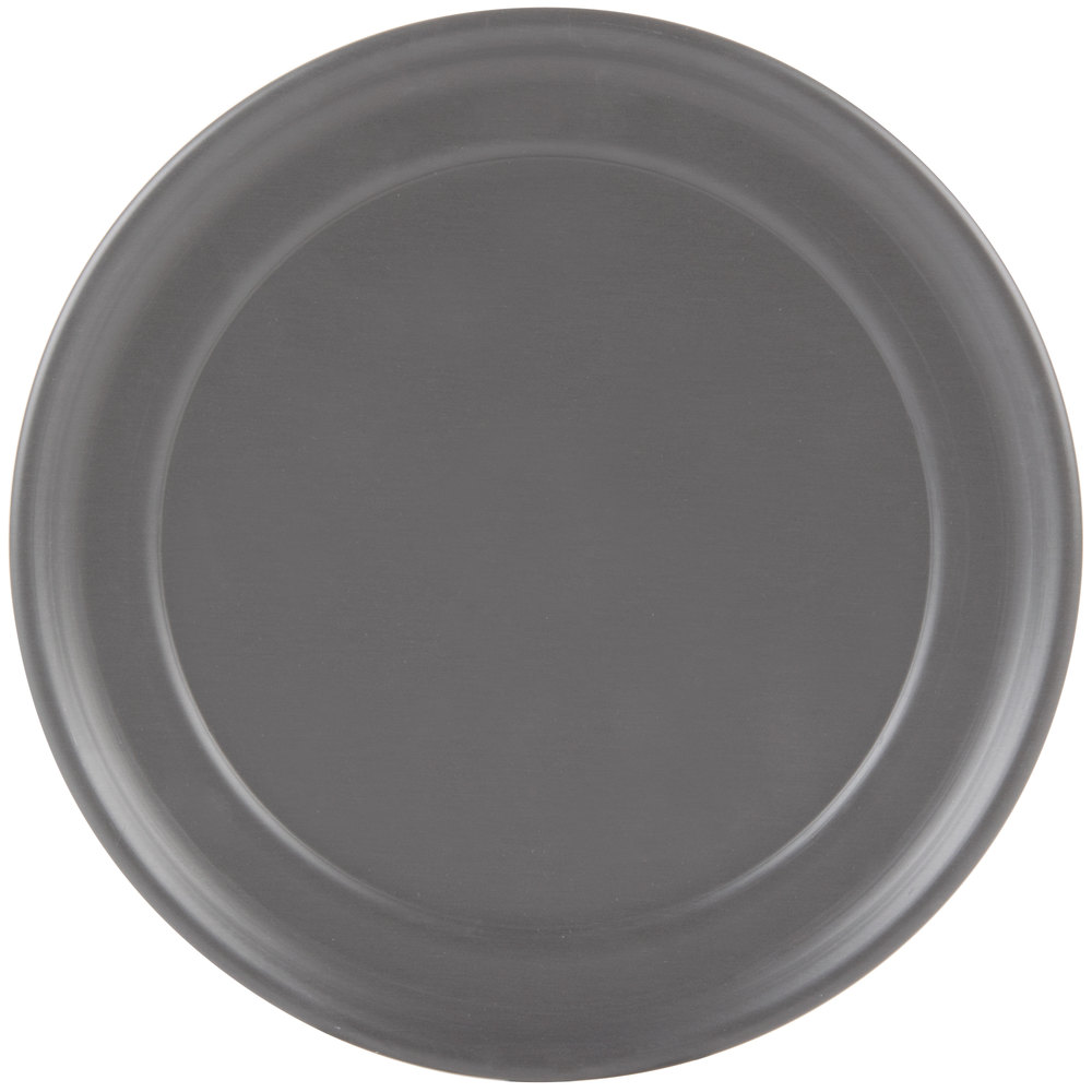 "American Metalcraft HCTP12 12"" Wide Rim Pizza Pan - Hard Coat Anodized Aluminum"