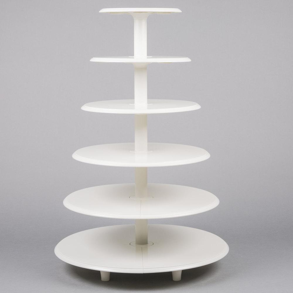 White Plastic Cake Stand
