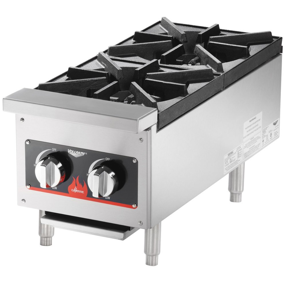 Countertop Stove Burners : Vollrath 40736 2 Burner Countertop Range