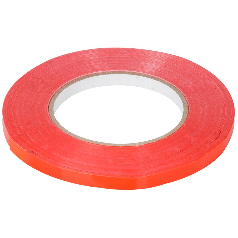 Plastic bag tape sealer - Red Poly Bag Sealer Tape 3 8 X 180 Yards 9mm X 165m