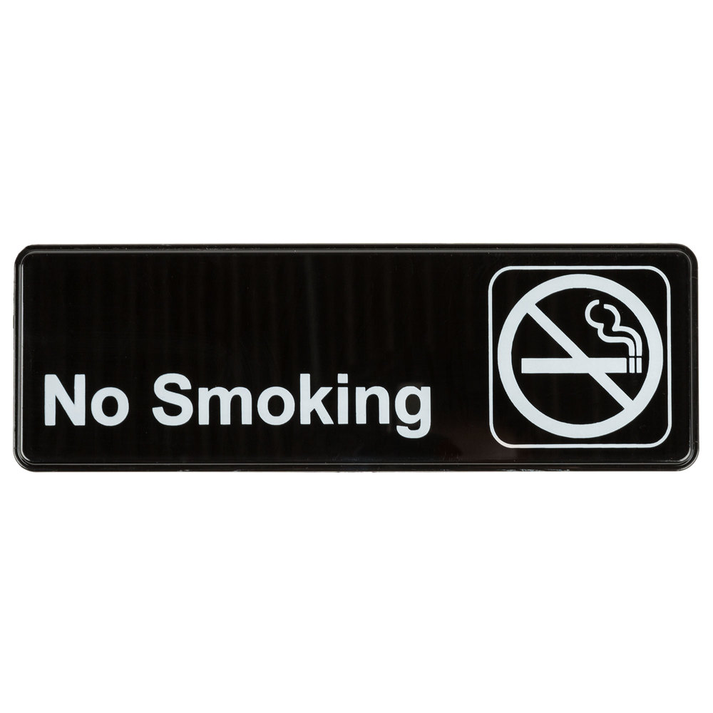 No Smoking Sign - Blac...