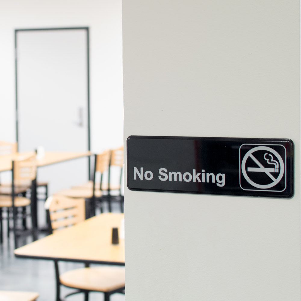 "9"" x 3"" Black and White No Smoking Sign"