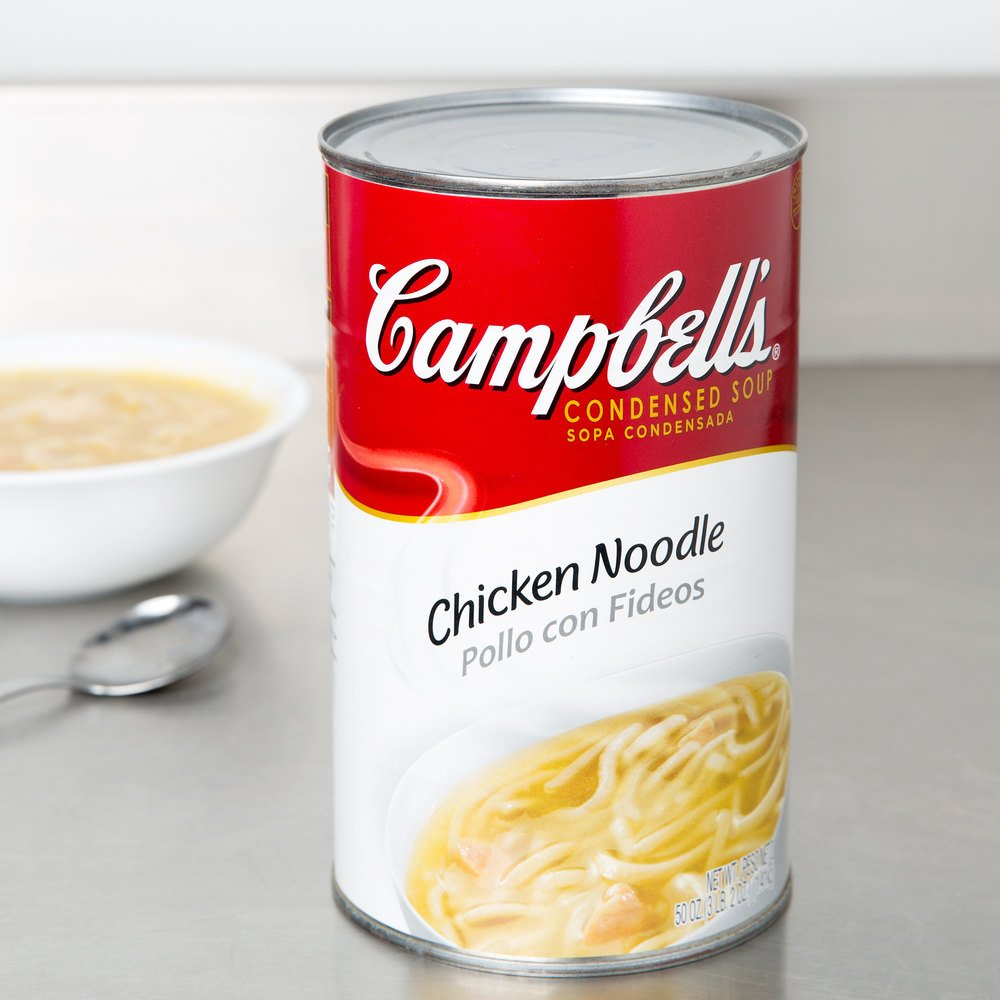 Campbell's Chicken Noodle Soup Condensed - (12) 50 oz. Cans / Case