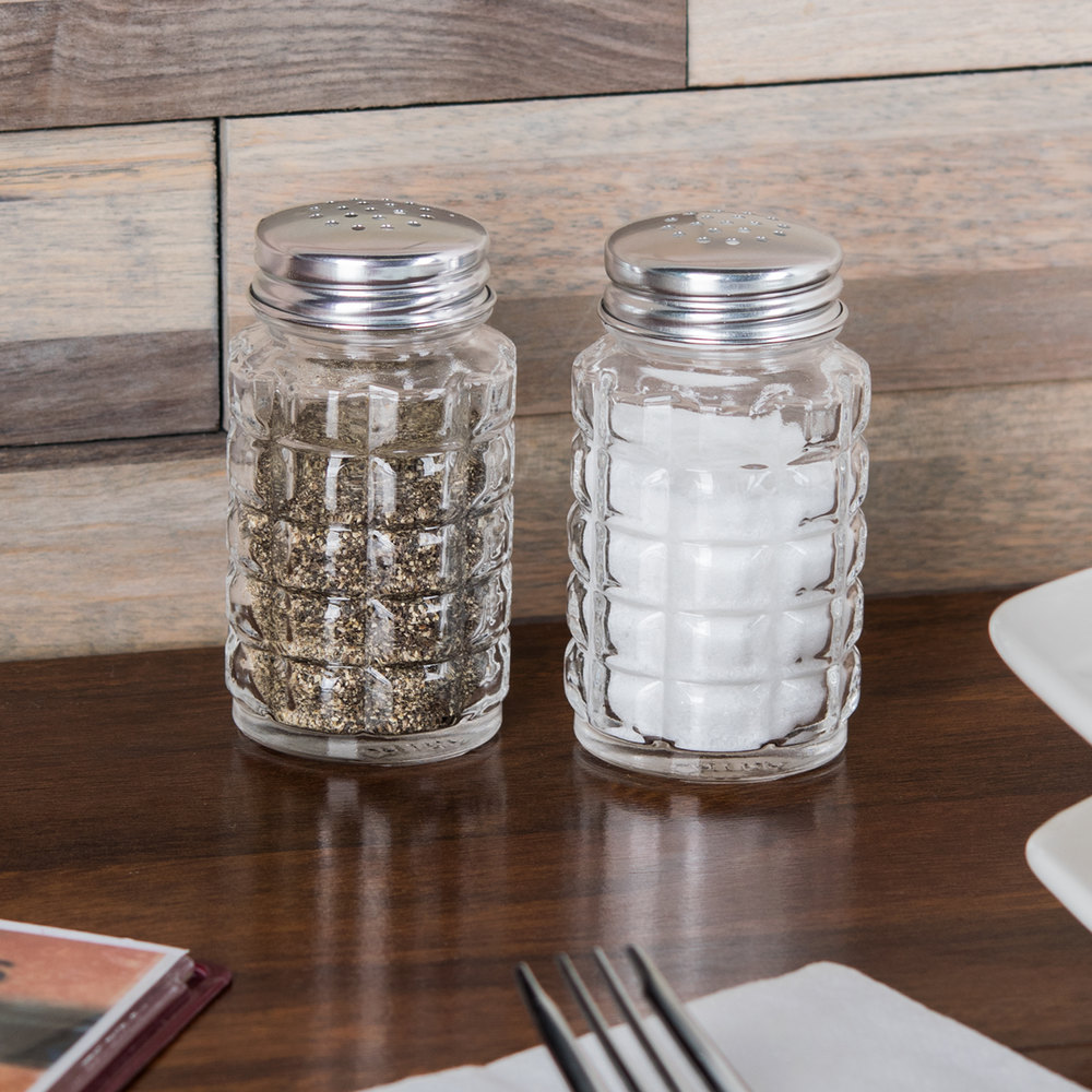 Libbey 5045 2 oz. Salt and Pepper Shaker - 4 Shakers / Pack