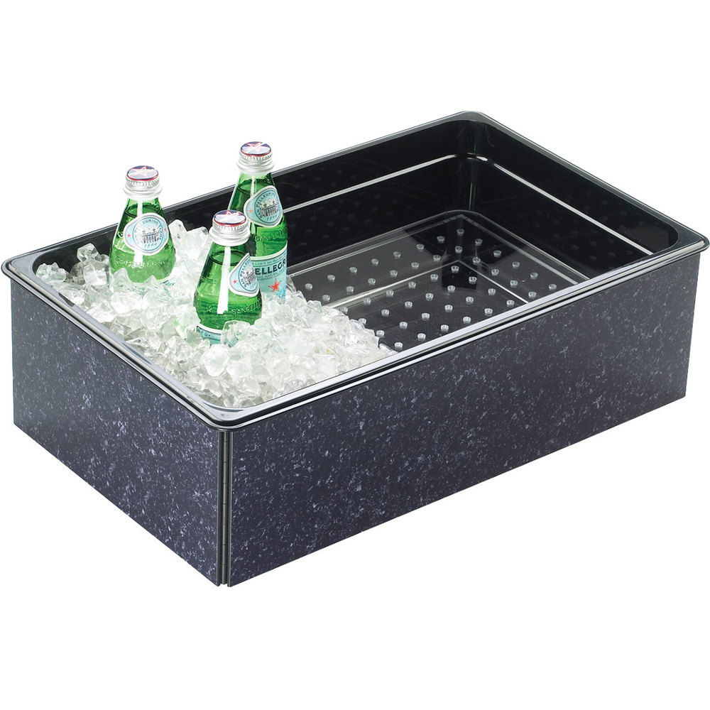 "Cal-Mil 368-12-17 Granite Charcoal ABS Fully Insulated Ice Housing - 20"" x 12"" x 6"""