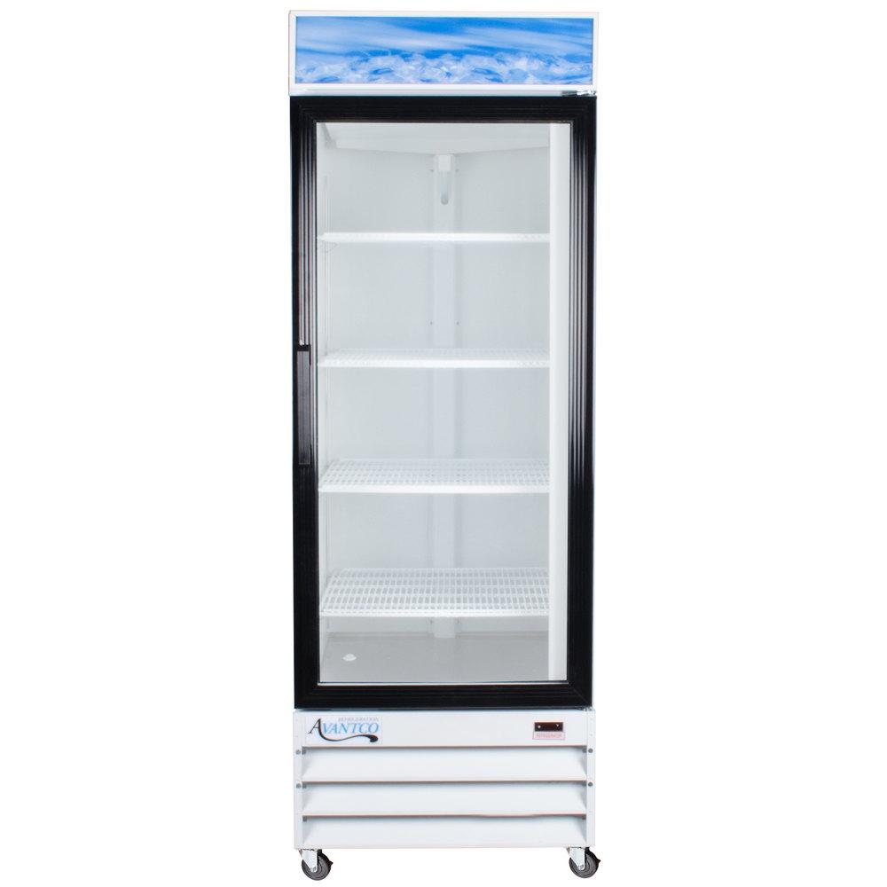Avantco Gdc 23 28 Quot White Swing Glass Door Merchandiser