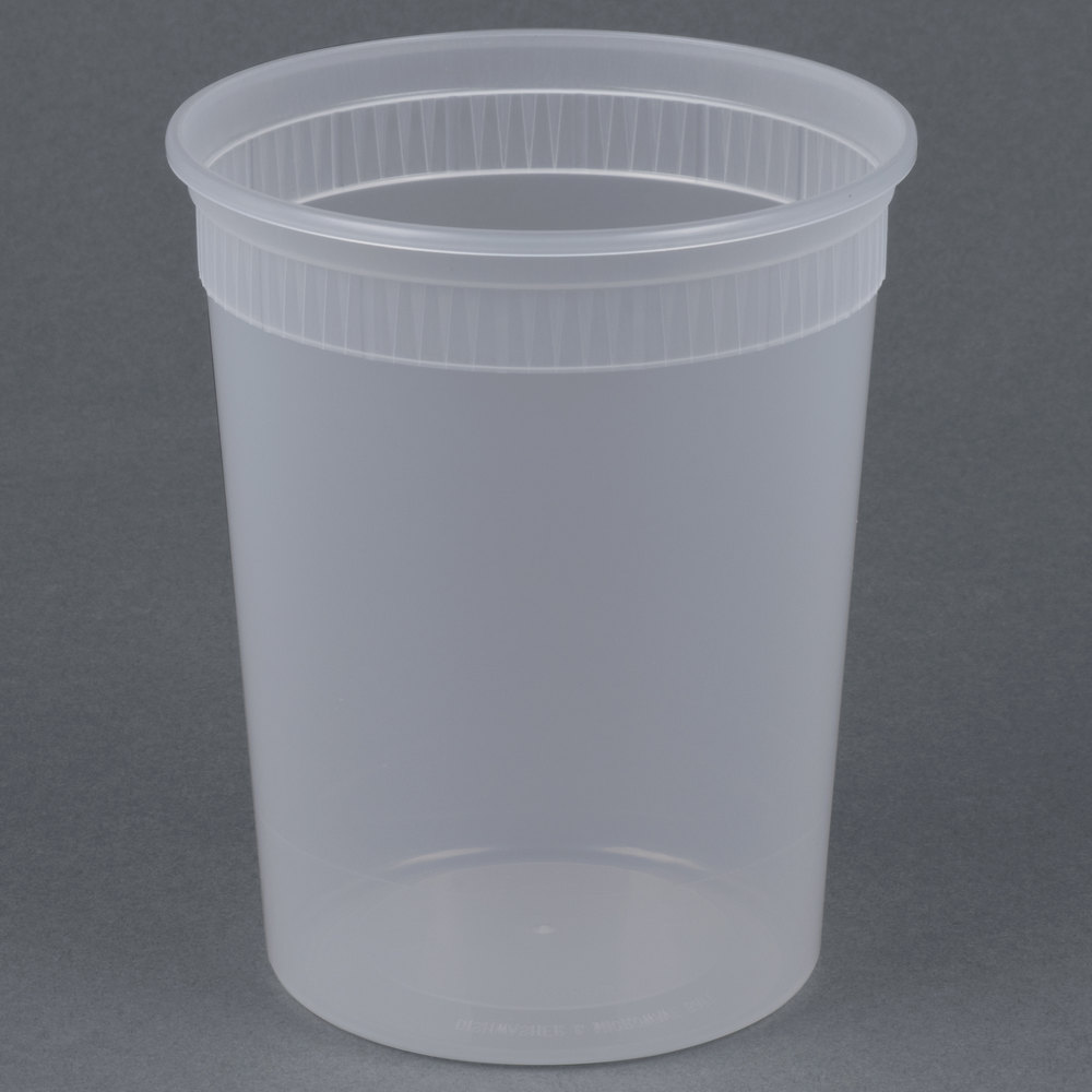 Newspring Delitainer Sd5032y 32 Oz Translucent Round Deli