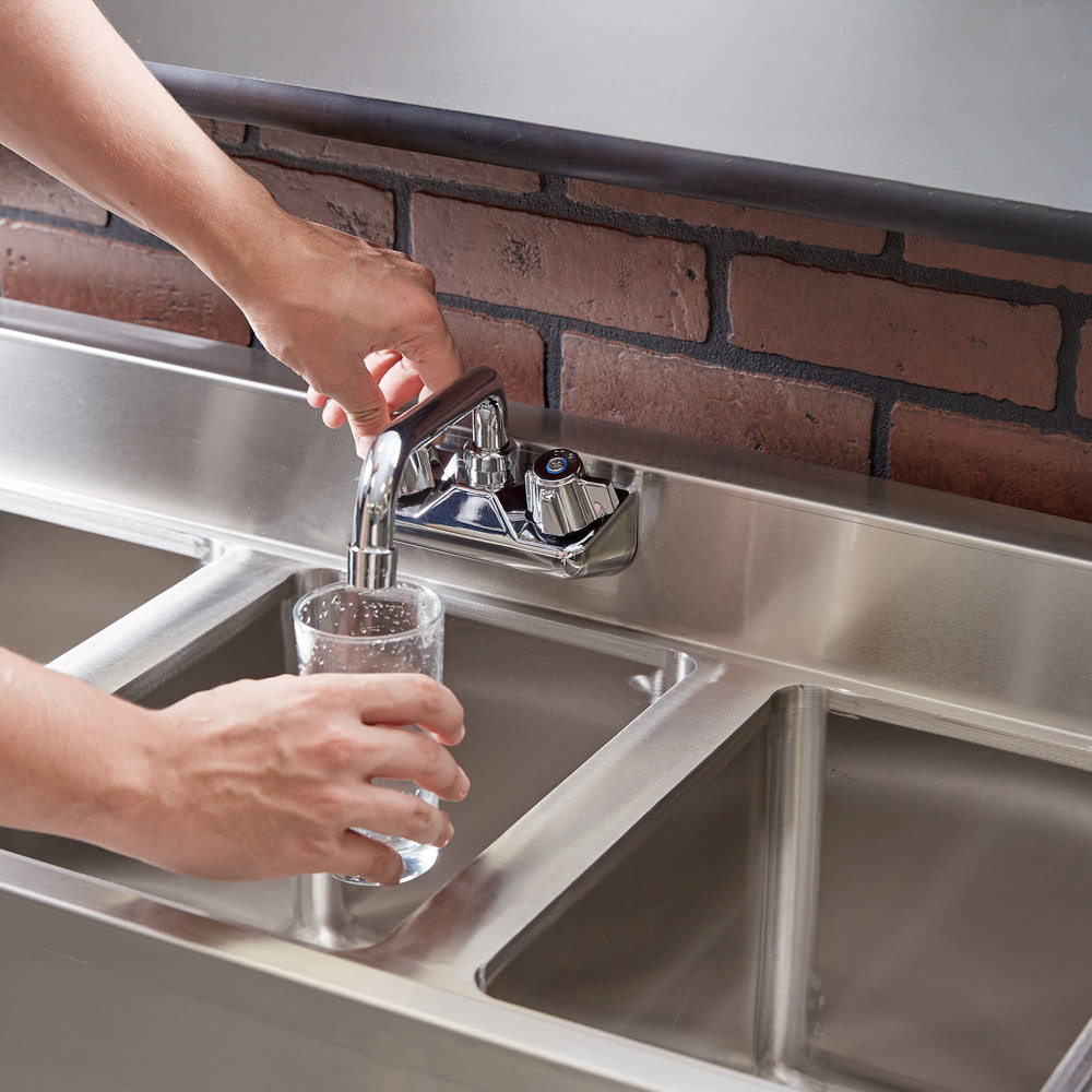 "Regency 3 Bowl Underbar Sink with Faucet - 38 1/2"" x 18 3/4"""