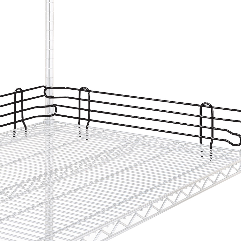 "Metro L42N-4BL Super Erecta Black Stackable Ledge 42"" x 4"""