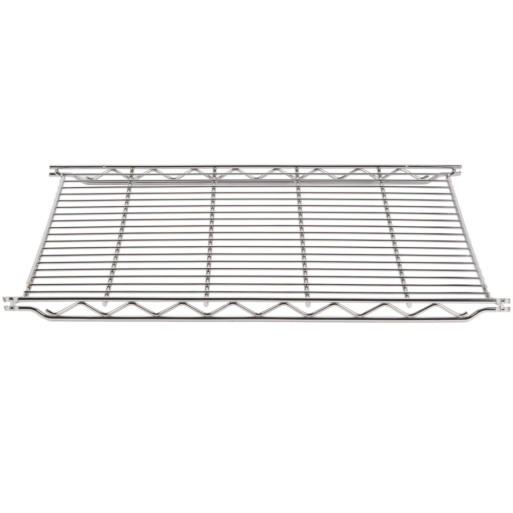 "Metro 1848C 18"" x 48"" Erecta Chrome Wire Shelf"