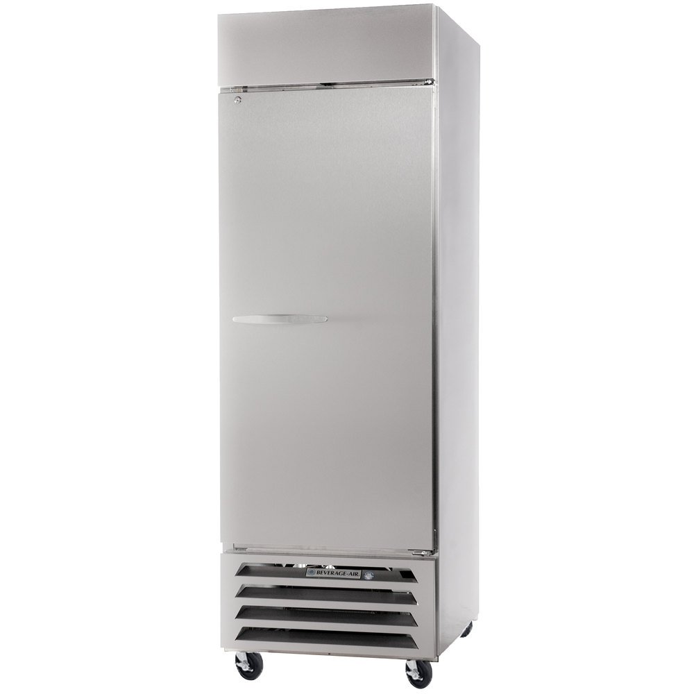 "Beverage Air HBR23-1-S 27"" Horizon Series One Section Solid Door Reach-In Refrigerator - 23 cu. ft."
