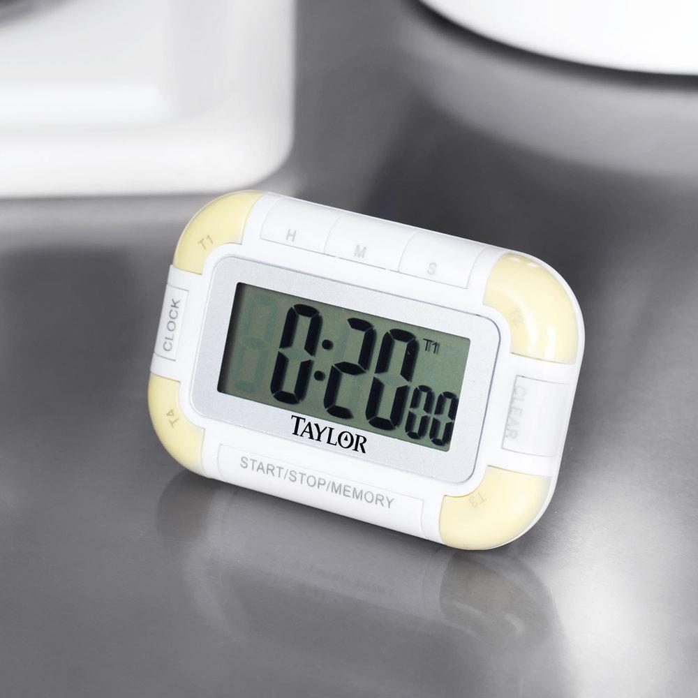 taylor 5862 digital 4 channel pocket kitchen timer
