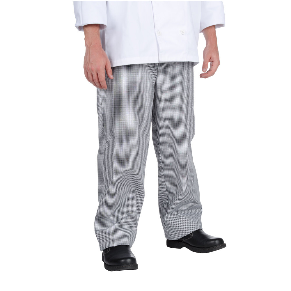 Chef Revival P020HT 2X Houndstooth Men's Baggy Cook Pants