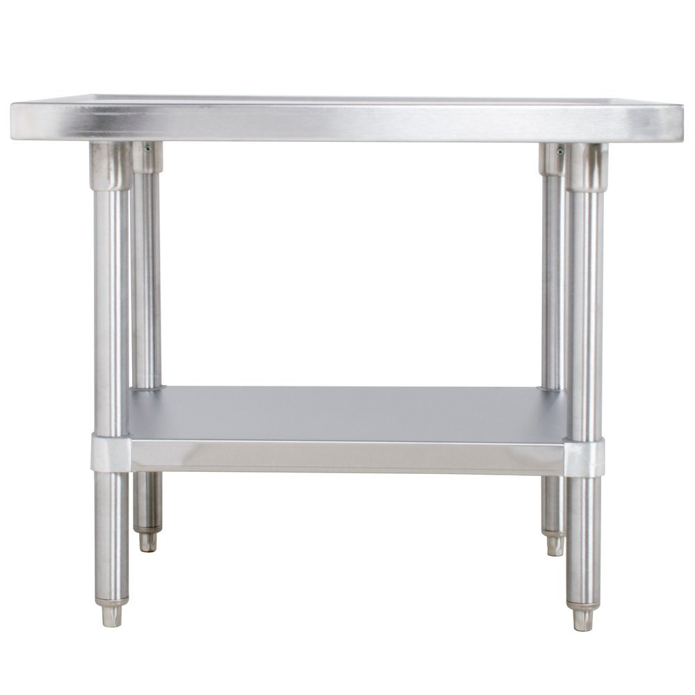 "Advance Tabco SAG-MT-302 30"" x 24"" Stainless Steel Mixer Table with Stainless Steel Undershelf"