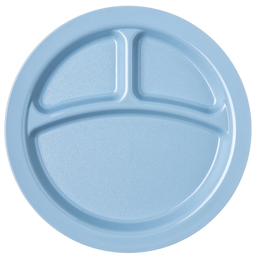 carlisle pcd22059 slate blue narrow rim 3 compartment 9. Black Bedroom Furniture Sets. Home Design Ideas