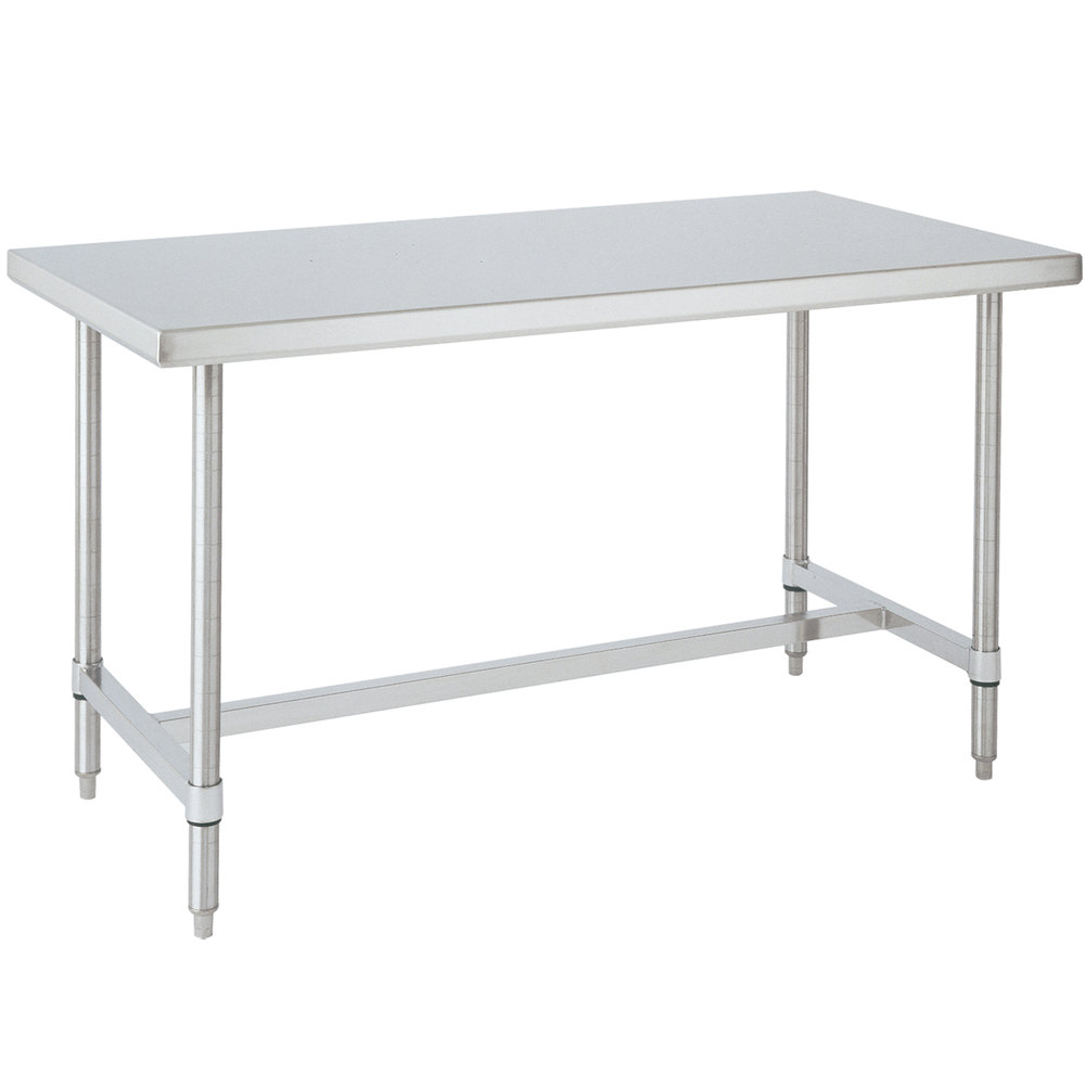 "14 Gauge Metro WT307HS 30' x 72"" HD Super Open Base Stainless Steel Work Table"