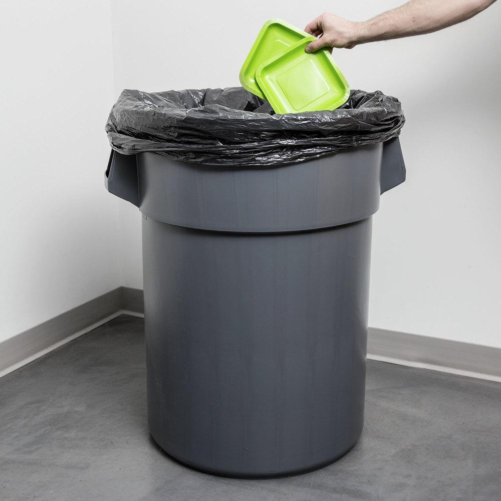 55 Gallon Gray Trash Can
