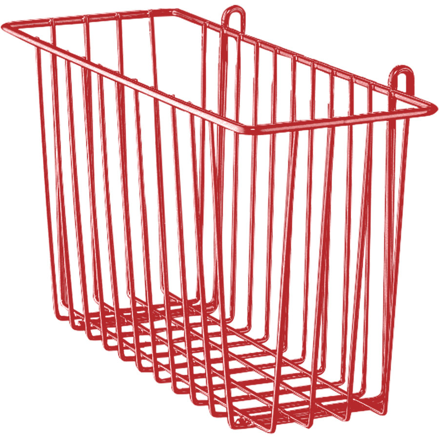 "Metro H210-DF Flame Red Storage Basket for Wire Shelving 17 3/8"" x 7 1/2"" x 5"""