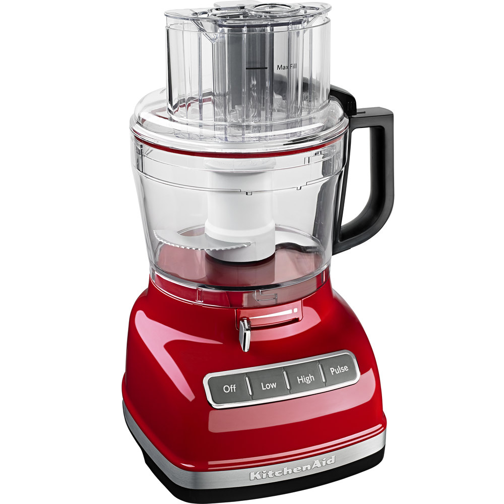Kitchenaid Kfp1133er Empire Red 11 Cup Food Processor With