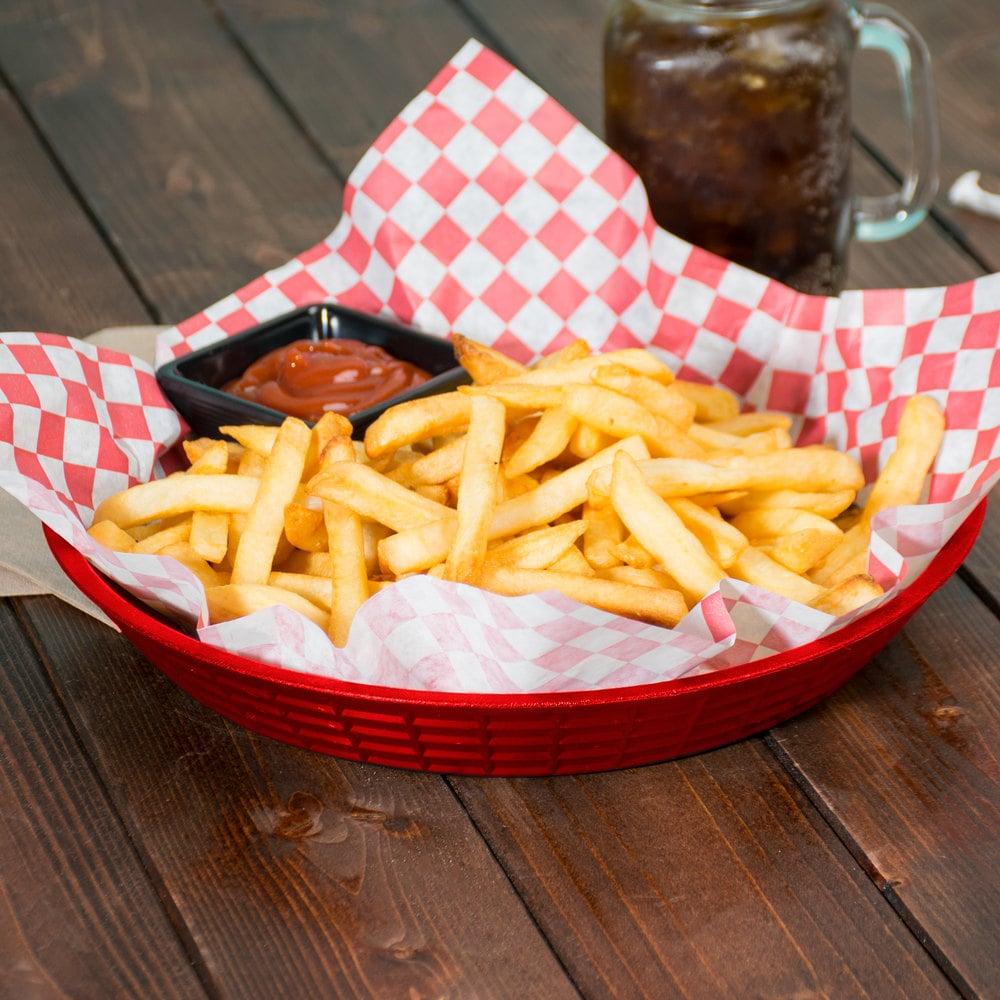 Tablecraft 157510r 10 1 2 Quot Red Plastic Diner Platter