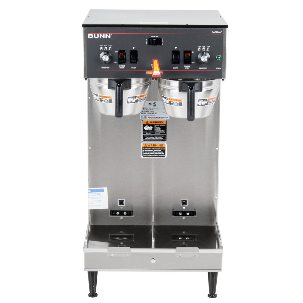 Bunn Coffee Maker Diagram : Bunn 27900.0002 Dual Soft Heat Brewer - 120/240V, 6800W