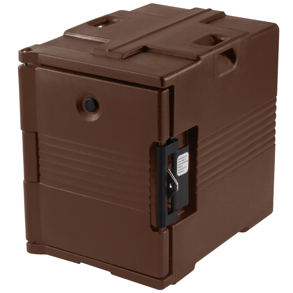 Cambro Camcarrier UPC400SP131 Dark Brown Pan Carrier with Security Package