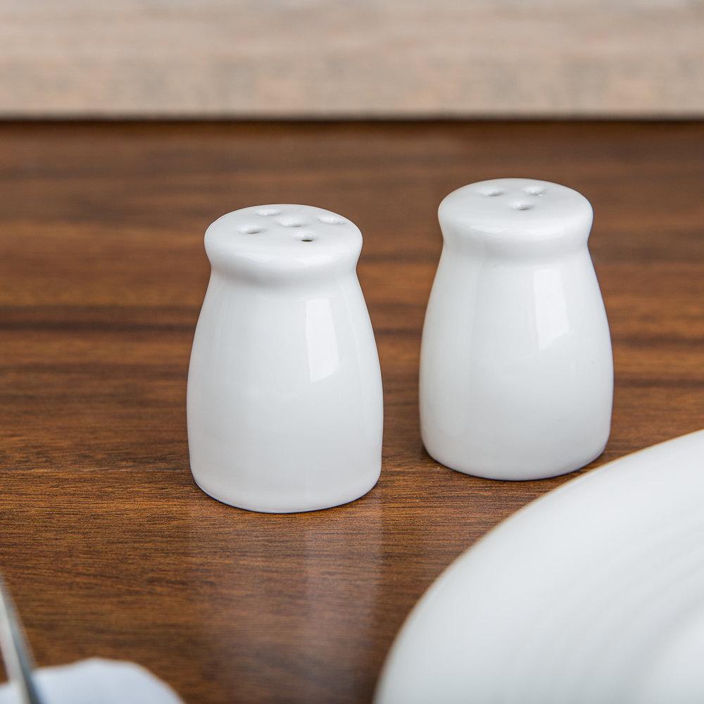American Metalcraft Pisp2 Miniature Porcelain Bellied Salt