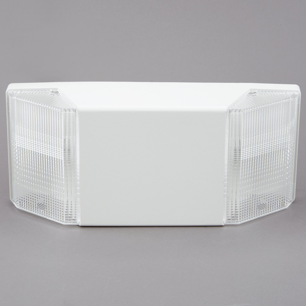 Low Profile Emergency Lighting Unit 2 Lights White With